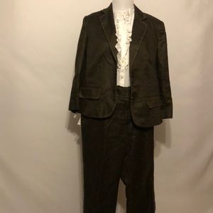 Villager brown two-piece business suit size 10